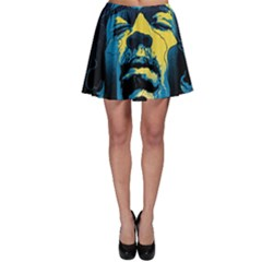 Gabz Jimi Hendrix Voodoo Child Poster Release From Dark Hall Mansion Skater Skirt