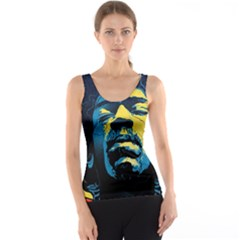 Gabz Jimi Hendrix Voodoo Child Poster Release From Dark Hall Mansion Tank Top