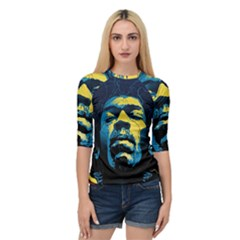 Gabz Jimi Hendrix Voodoo Child Poster Release From Dark Hall Mansion Quarter Sleeve Tee
