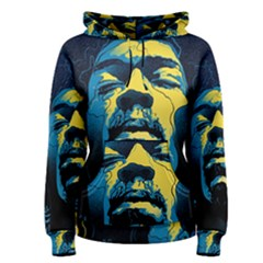 Gabz Jimi Hendrix Voodoo Child Poster Release From Dark Hall Mansion Women s Pullover Hoodie