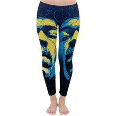 Gabz Jimi Hendrix Voodoo Child Poster Release From Dark Hall Mansion Classic Winter Leggings