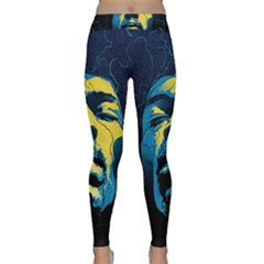 Gabz Jimi Hendrix Voodoo Child Poster Release From Dark Hall Mansion Classic Yoga Leggings
