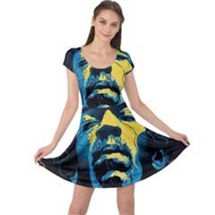 Gabz Jimi Hendrix Voodoo Child Poster Release From Dark Hall Mansion Cap Sleeve Dresses