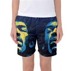 Gabz Jimi Hendrix Voodoo Child Poster Release From Dark Hall Mansion Women s Basketball Shorts