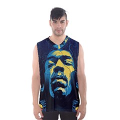 Gabz Jimi Hendrix Voodoo Child Poster Release From Dark Hall Mansion Men s Basketball Tank Top