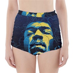 Gabz Jimi Hendrix Voodoo Child Poster Release From Dark Hall Mansion High-Waisted Bikini Bottoms