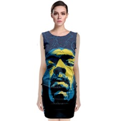 Gabz Jimi Hendrix Voodoo Child Poster Release From Dark Hall Mansion Classic Sleeveless Midi Dress