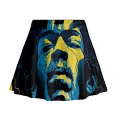 Gabz Jimi Hendrix Voodoo Child Poster Release From Dark Hall Mansion Mini Flare Skirt