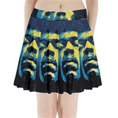 Gabz Jimi Hendrix Voodoo Child Poster Release From Dark Hall Mansion Pleated Mini Skirt