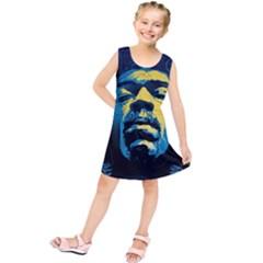 Gabz Jimi Hendrix Voodoo Child Poster Release From Dark Hall Mansion Kids  Tunic Dress