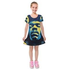 Gabz Jimi Hendrix Voodoo Child Poster Release From Dark Hall Mansion Kids  Short Sleeve Velvet Dress