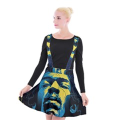 Gabz Jimi Hendrix Voodoo Child Poster Release From Dark Hall Mansion Suspender Skater Skirt