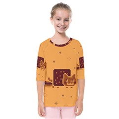 Nyan Cat Vintage Kids  Quarter Sleeve Raglan Tee