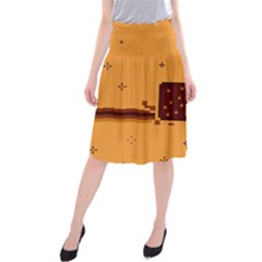 Nyan Cat Vintage Midi Beach Skirt