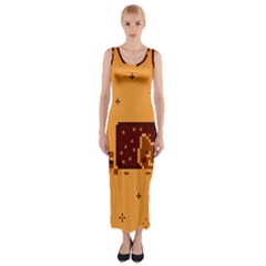 Nyan Cat Vintage Fitted Maxi Dress