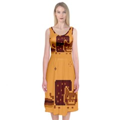 Nyan Cat Vintage Midi Sleeveless Dress