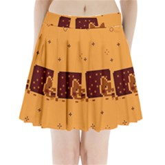 Nyan Cat Vintage Pleated Mini Skirt