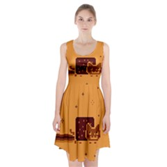 Nyan Cat Vintage Racerback Midi Dress