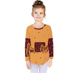 Nyan Cat Vintage Kids  Long Sleeve Tee