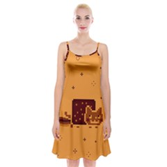 Nyan Cat Vintage Spaghetti Strap Velvet Dress