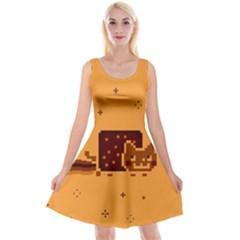Nyan Cat Vintage Reversible Velvet Sleeveless Dress