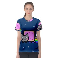 Nyan Cat Women s Sport Mesh Tee