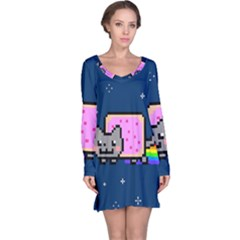 Nyan Cat Long Sleeve Nightdress