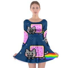 Nyan Cat Long Sleeve Skater Dress