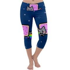 Nyan Cat Capri Yoga Leggings