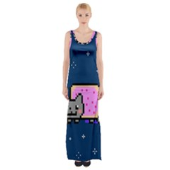 Nyan Cat Maxi Thigh Split Dress