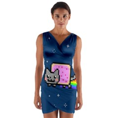 Nyan Cat Wrap Front Bodycon Dress