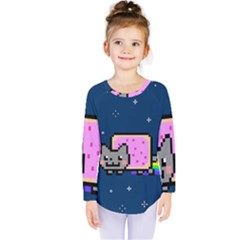 Nyan Cat Kids  Long Sleeve Tee