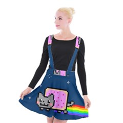 Nyan Cat Suspender Skater Skirt