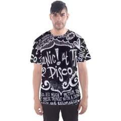 Panic ! At The Disco Lyric Quotes Men s Sport Mesh Tee