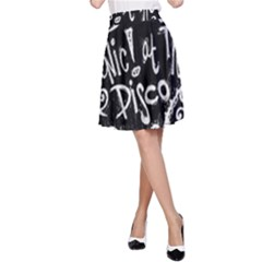 Panic ! At The Disco Lyric Quotes A-Line Skirt