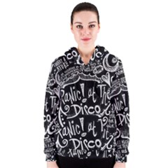 Panic ! At The Disco Lyric Quotes Women s Zipper Hoodie