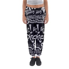 Panic ! At The Disco Lyric Quotes Women s Jogger Sweatpants