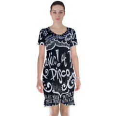 Panic ! At The Disco Lyric Quotes Short Sleeve Nightdress