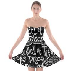 Panic ! At The Disco Lyric Quotes Strapless Bra Top Dress