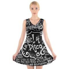 Panic ! At The Disco Lyric Quotes V-Neck Sleeveless Skater Dress