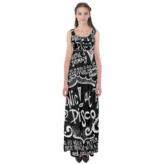 Panic ! At The Disco Lyric Quotes Empire Waist Maxi Dress