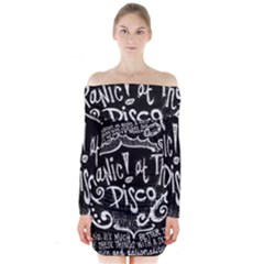 Panic ! At The Disco Lyric Quotes Long Sleeve Off Shoulder Dress