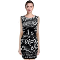 Panic ! At The Disco Lyric Quotes Sleeveless Velvet Midi Dress
