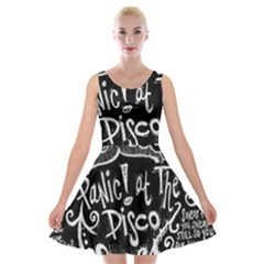 Panic ! At The Disco Lyric Quotes Velvet Skater Dress