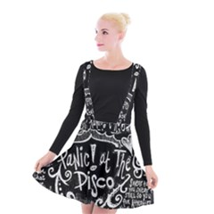 Panic ! At The Disco Lyric Quotes Suspender Skater Skirt