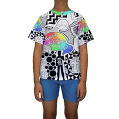 Panic ! At The Disco Kids  Short Sleeve Swimwear