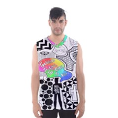 Panic ! At The Disco Men s Basketball Tank Top