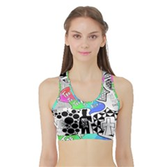 Panic ! At The Disco Sports Bra with Border