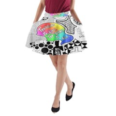 Panic ! At The Disco A-Line Pocket Skirt