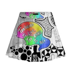 Panic ! At The Disco Mini Flare Skirt